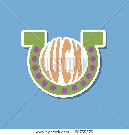 paper sticker on stylish background of good luck logo