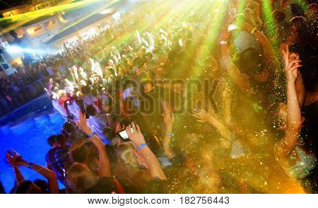 Dance Club Big Party with Swiming Pool