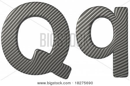 Carbon Fiber Font Q Lowercase And Capital Letters