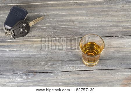 A Stack Of Alcohol On Wooden