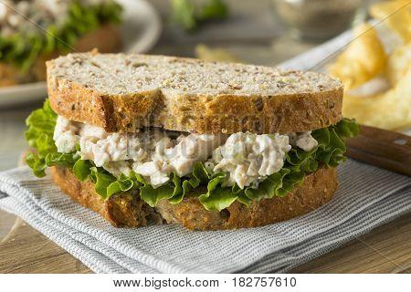 Homemade Healthy Chicken Salad Sandwich