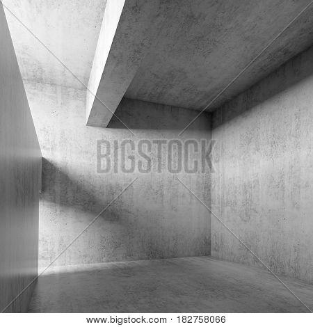 Abstract Empty Concrete Interior 3 D Room