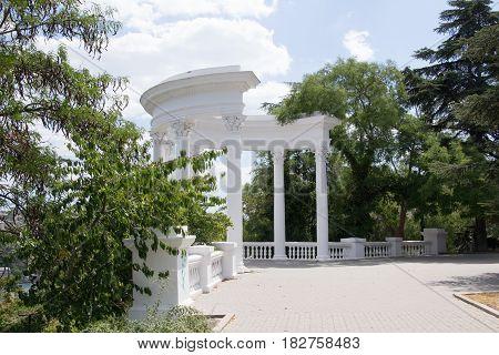 Rotunda colonnade in Sevastopol, the Crimean architecture