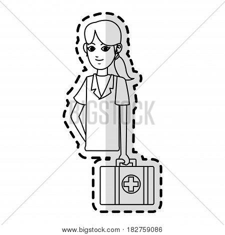 female medical doctor icon image vector illustration design