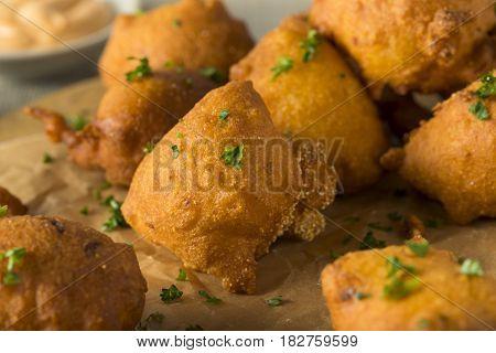 Homemade Deep Fried Hush Puppies
