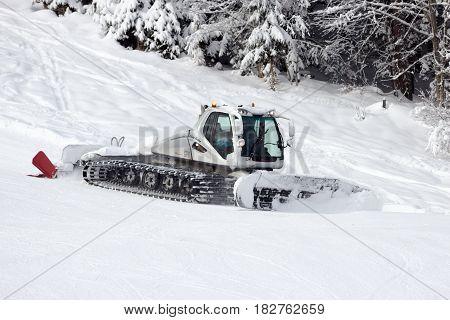 Snow Groomer Ski Piste