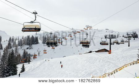 Ski Slope Lift Alps
