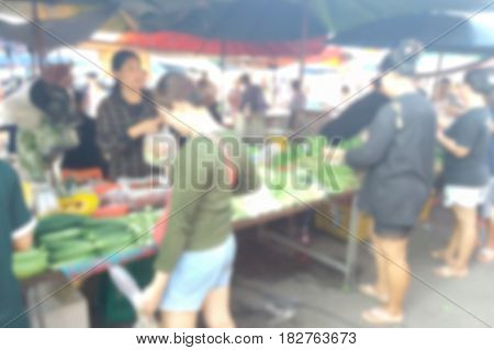 Blurred Photo, Blurry Image, Vendors Selling Fruits And Vegetables, Background