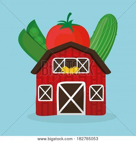 farm fresh vegetables health image vector illustration eps 10