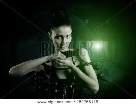 Underground Steampunk Woman