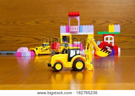 Toy Tractor With Bricks