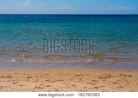 abstract calm clear blue sea background, Tenerife