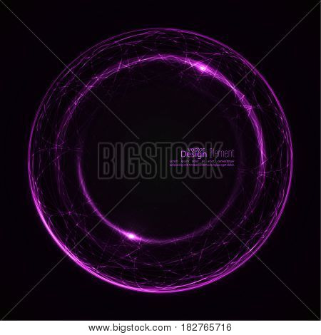 Abstract background with luminous swirling backdrop. Intersection curves. Glowing spiral. The energy flow tunnel.  Lights vector frame. purple, lilac, mauve, violet, magenta.  quantum