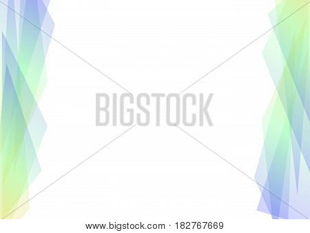 blue and green geometric spectrum abstract background, solf green transparent layout, prism business template, vector illustration