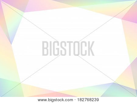 geometric spectrum abstract background, solf rainbow transparent layout, prism business template, vector illustration
