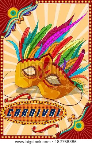 easy to edit vector illustration of Vintage retro Carnival Party banner poster design