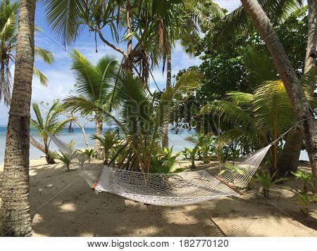 Beautiful and peaceful tropical island of Fiji