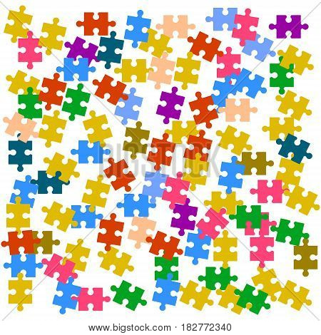 Wallpaper with colored puzzles Vector illustration. Eps 10