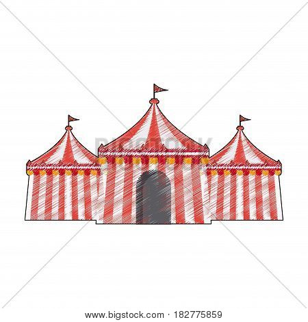 circus tent icon image vector illustration design