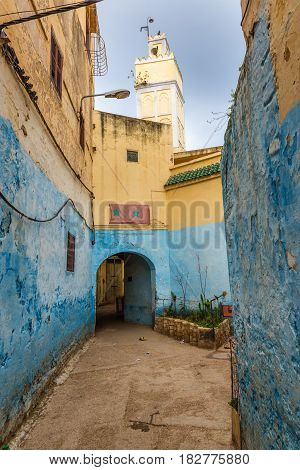 The Streets Of Ancient Medina In Meknes
