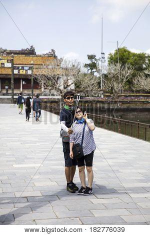 Royal Palace In Hue, Vietnam
