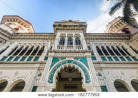 The Arabian style building of Palacio del Valle in the Punta Gorda Cienfuegos Cuba