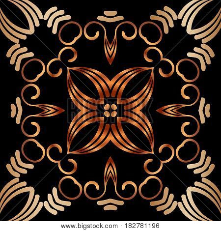 Abstract beautiful gold pattern, royal, damask ornament, vintage, rich pattern, luxury, artistic, vector, oldest style arabesque for decoration and design