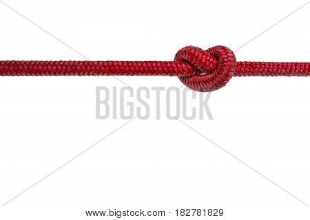 Red Rope With Knot