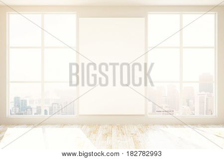 Unfurnished Interior With Blank Poster