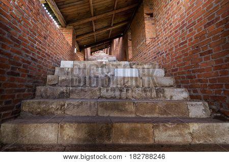 Nizhny Novgorod, Russia, 20 July, 2013, passageways and stone steps to the walls of the Kremlin inside.