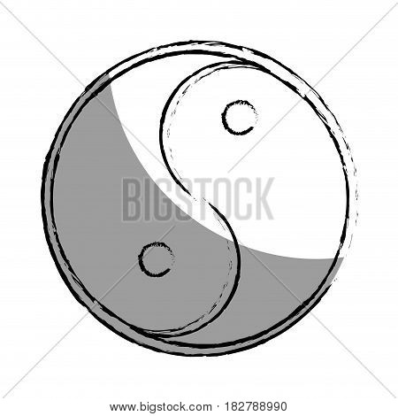 The yin and the yang vector illustration design