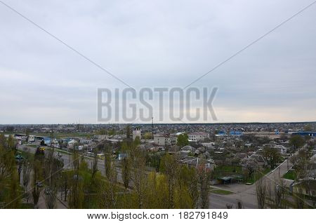 View From Afar To Some Part Of The City In Pavlograd, Ukraine