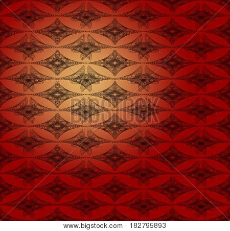 Fine outline abstract background with geometric patterns on the dark red area with gradient light