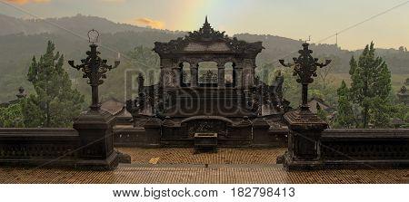 khai dinh tomb of vietnamese king scenic in hue vietnam