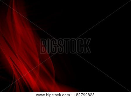 Elegant black and red background design with space for your text