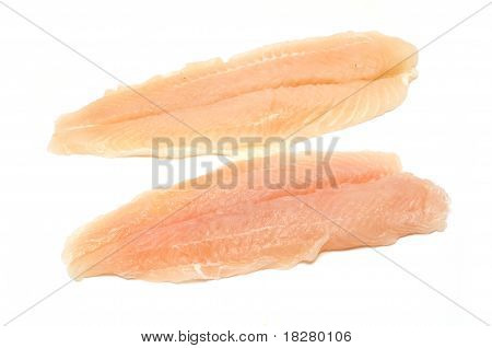 Two Cod Fillets Isolated On White Background