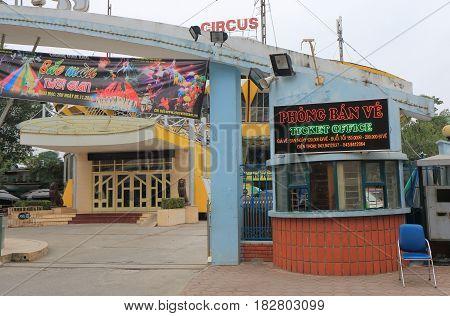 HANOI VIETNAM - NOVEMBER 24, 2016: Hanoi Circus Rapxiec Trung Uong ticket office.