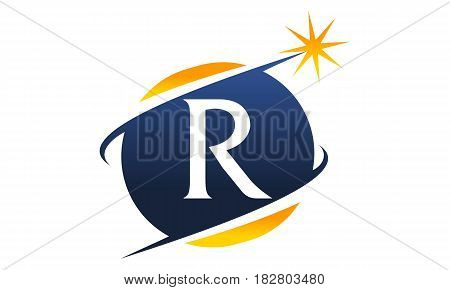 This vector describe about Swoosh Logo Letter R