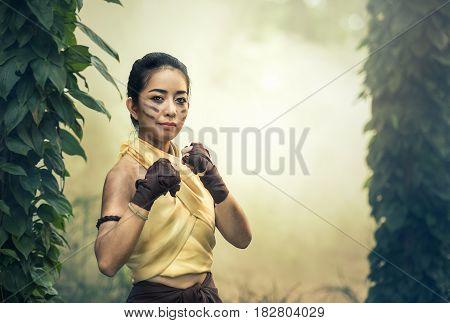 Muay Thai Martial arts (Muay Boran) in Thailand