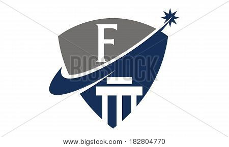 This vector describe about Justice Law Initial F