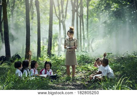 Chiang Mai Province THAILAND - September 30: Learning and Teaching students In rural areas Chiang Mai September 30 2016.