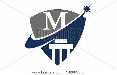 This vector describe about Justice Law Initial M