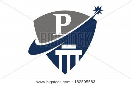This vector describe about Justice Law Initial P