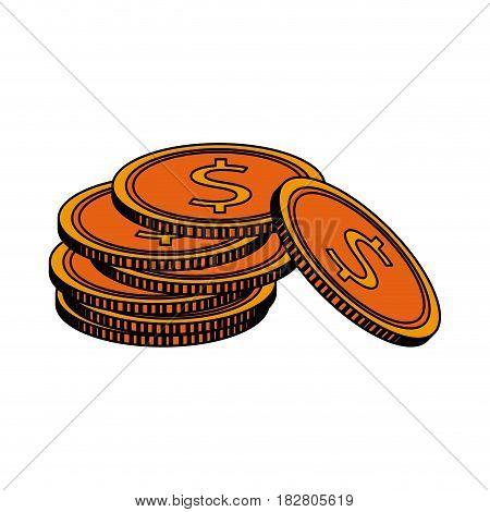 dollar coin icon image vector illustration design