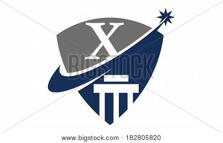 This vector describe about Justice Law Initial X