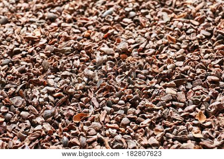 Aromatic cocoa nibs as background