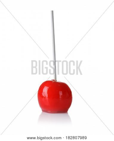 Delicious holiday apple on white background
