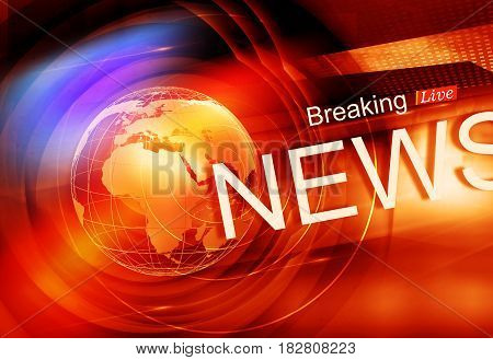 Graphical Colorful Live Breaking News Background. 3d render 3d illustration