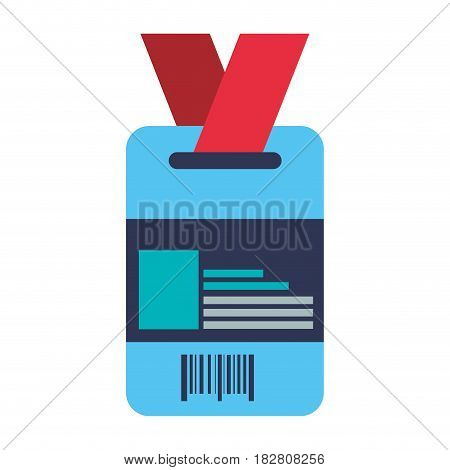 Employee id card icon vector illustration graphic design