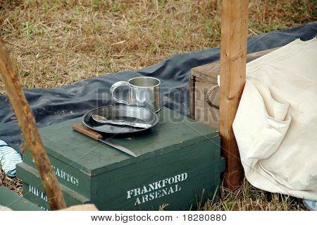 Civil War Camp Mess Kit